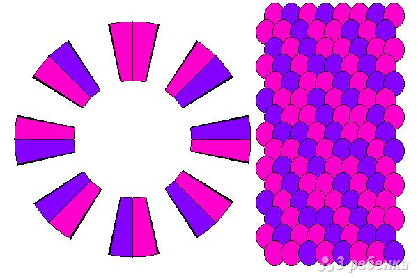 Схема фенечки кумихимо 12350