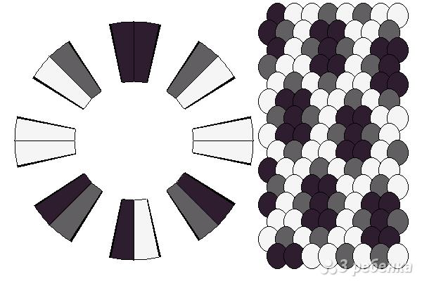 Схема фенечки кумихимо 12343