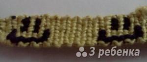 Схема фенечки прямым плетением 13122