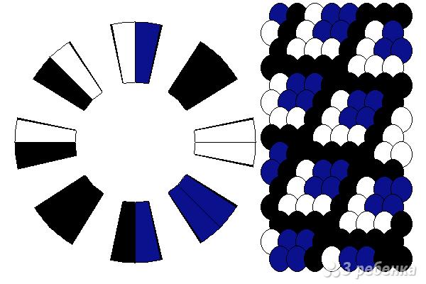 Схема фенечки кумихимо 12339