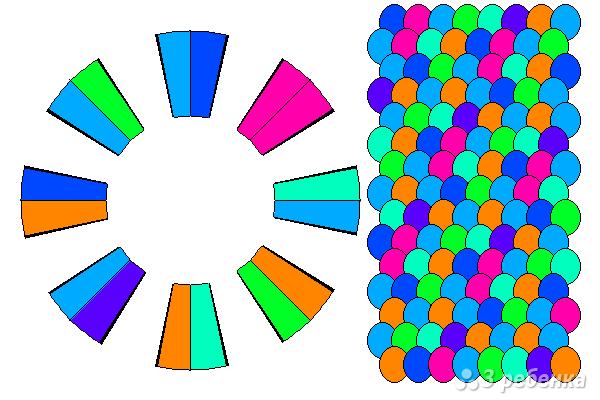 Схема фенечки кумихимо 12329