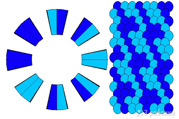 Схема фенечки кумихимо 12325