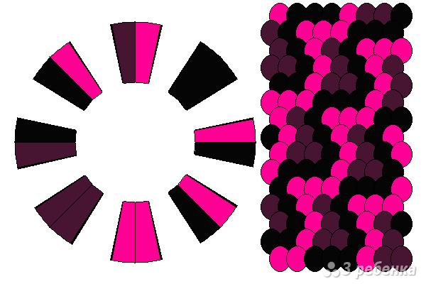 Схема фенечки кумихимо 12321