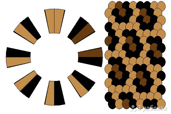 Схема фенечки кумихимо 12316