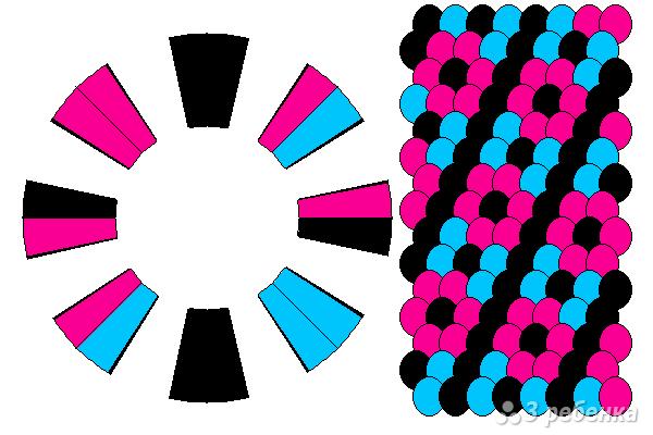 Схема фенечки кумихимо 12310