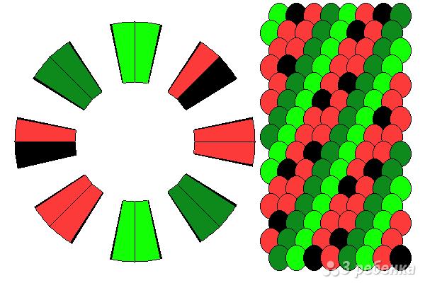 Схема фенечки кумихимо 12304
