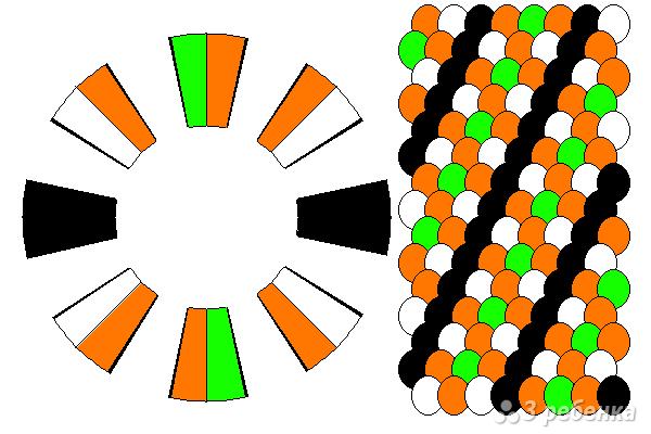 Схема фенечки кумихимо 12296