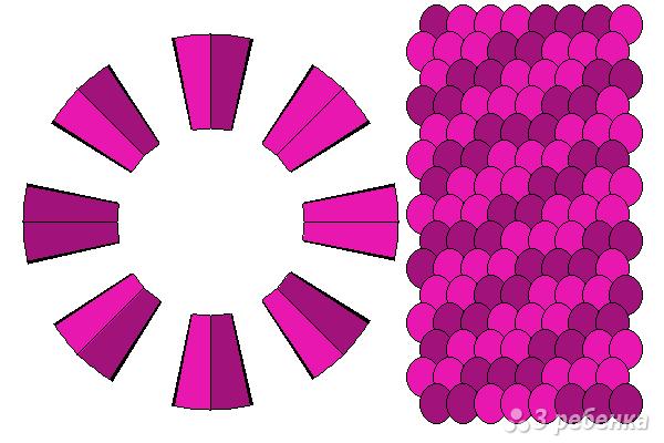 Схема фенечки кумихимо 12292