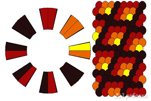 Схема фенечки кумихимо 12287