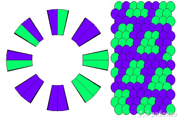 Схема фенечки кумихимо 12283