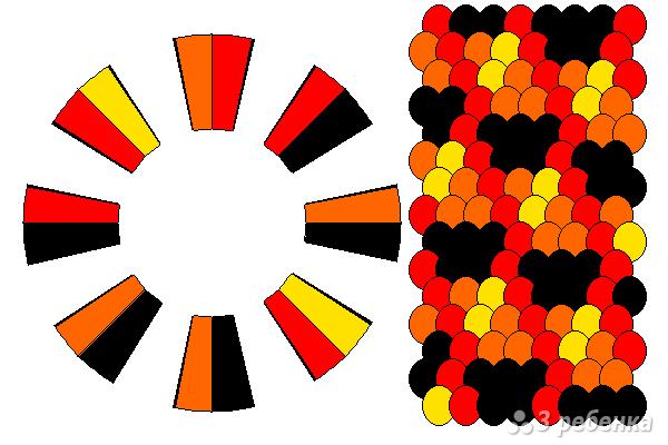 Схема фенечки кумихимо 12279