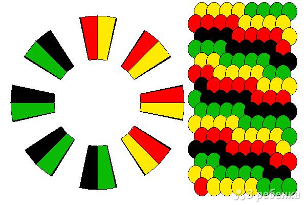 Схема фенечки кумихимо 12275