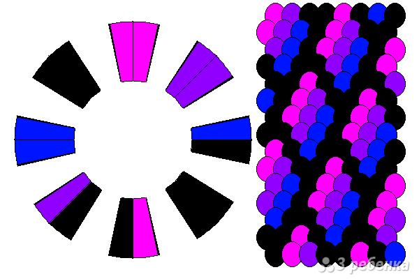 Схема фенечки кумихимо 12271