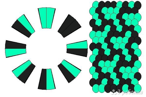 Схема фенечки кумихимо 12263