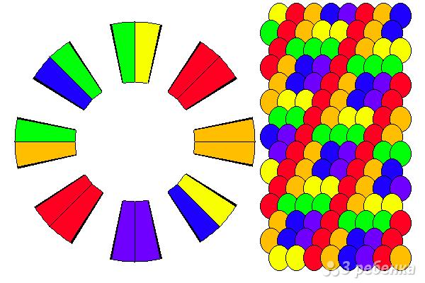 Схема фенечки кумихимо 12259