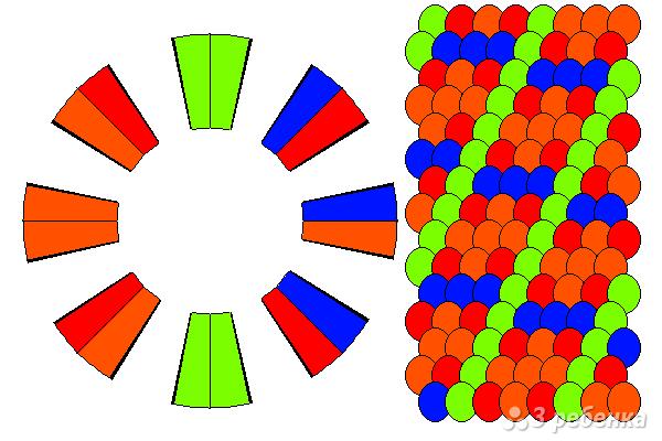 Схема фенечки кумихимо 12255