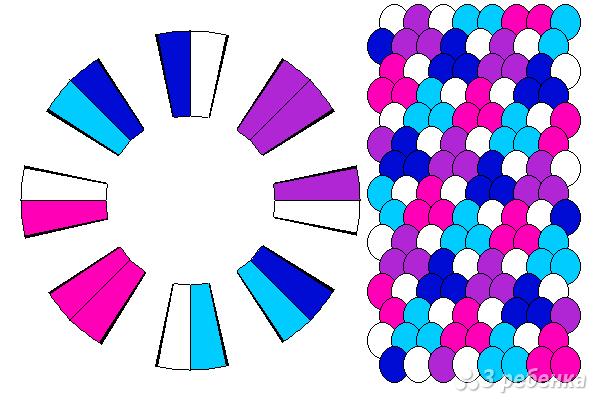 Схема фенечки кумихимо 12251