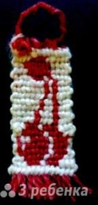 Схема фенечки прямым плетением 12920
