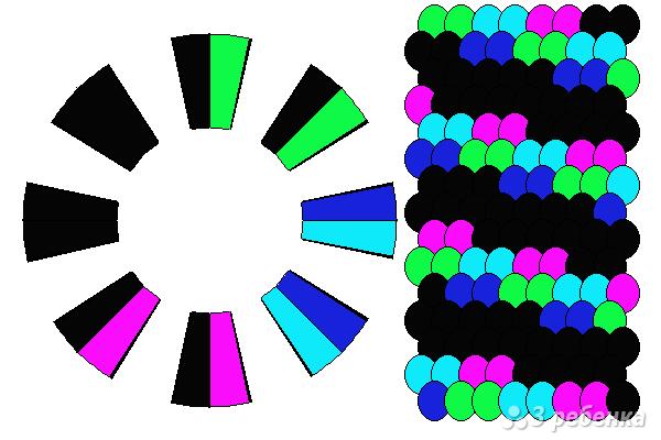 Схема фенечки кумихимо 12247