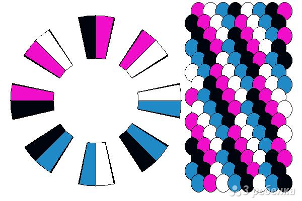 Схема фенечки кумихимо 12242