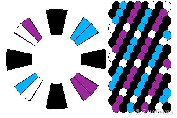 Схема фенечки кумихимо 12238
