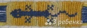 Схема фенечки прямым плетением 12932