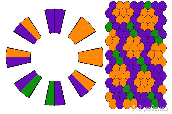 Схема фенечки кумихимо 12230