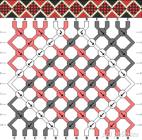 Схема фенечки 12642