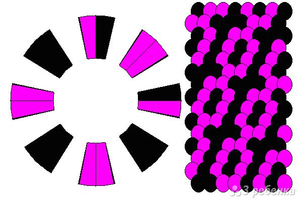 Схема фенечки кумихимо 12226