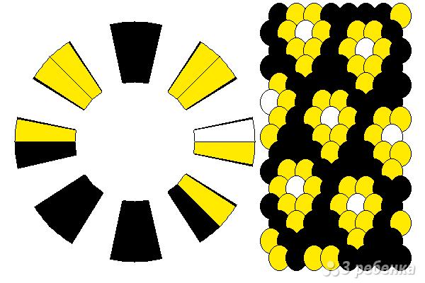 Схема фенечки кумихимо 12222