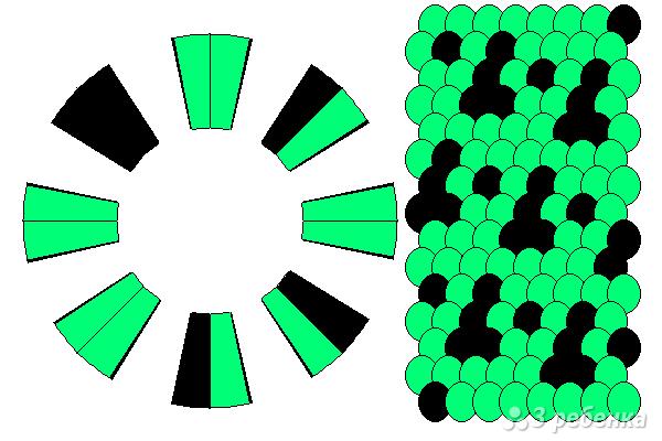 Схема фенечки кумихимо 12218