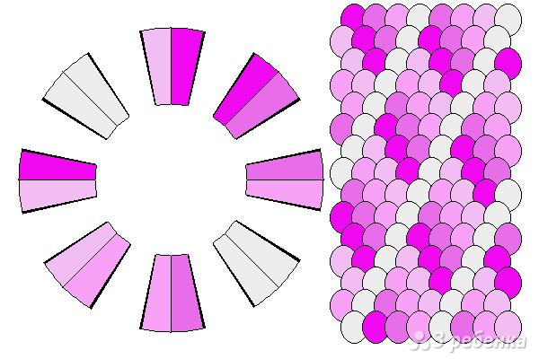 Схема фенечки кумихимо 12214