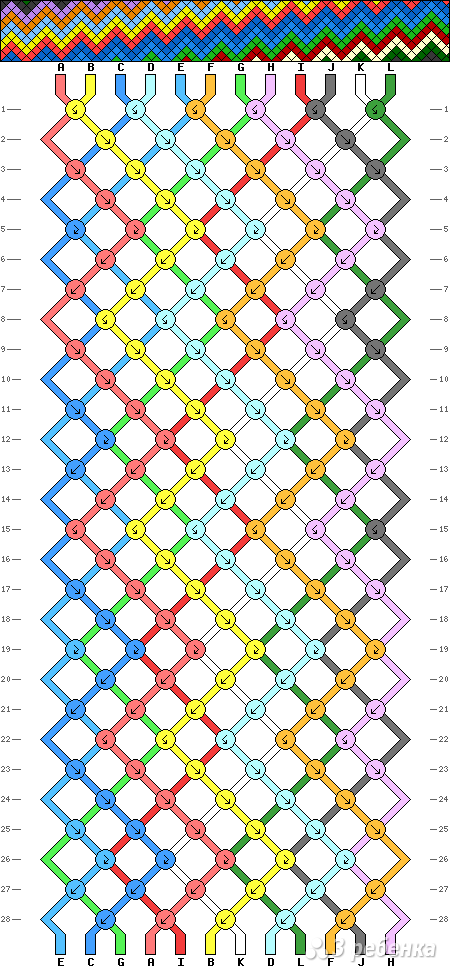 Схема фенечки 12775