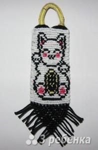 Схема фенечки прямым плетением 12890
