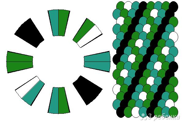 Схема фенечки кумихимо 12198
