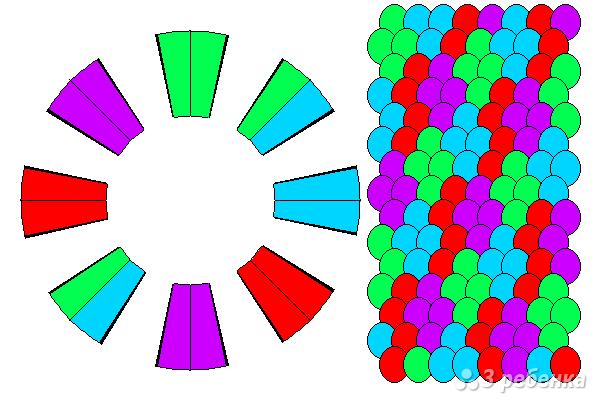 Схема фенечки кумихимо 12194
