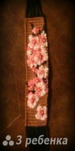 Схема фенечки прямым плетением 12847