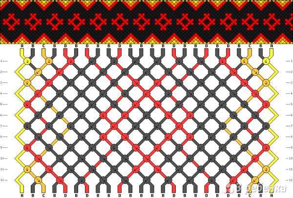 Схема фенечки 12715
