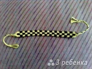 Схема фенечки прямым плетением 13133