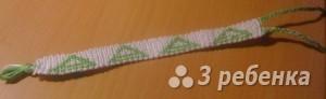 Схема фенечки прямым плетением 12938