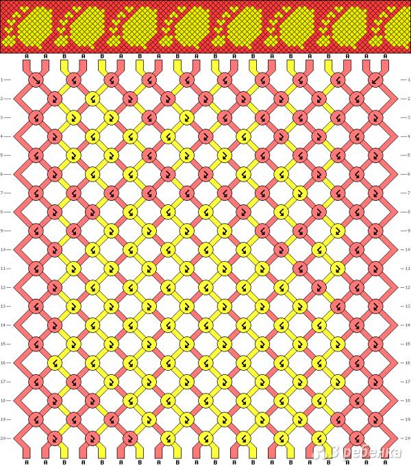 Схема фенечки 12833