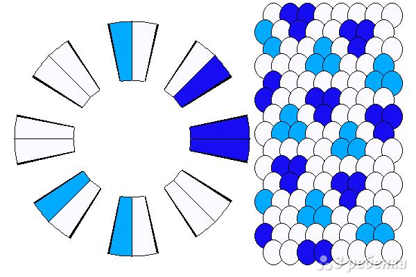 Схема фенечки кумихимо 12434
