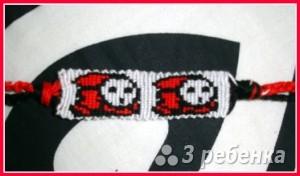 Схема фенечки прямым плетением 13017