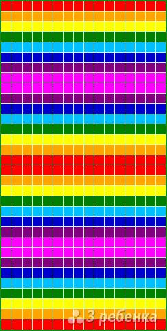 Схема фенечки прямым плетением 13153