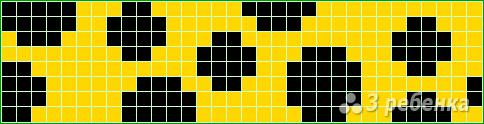 Схема фенечки прямым плетением 12984