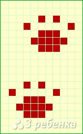 Схема фенечки прямым плетением 12927