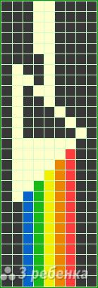 Схема фенечки прямым плетением 13066