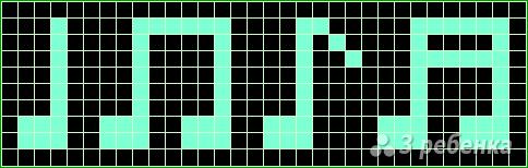 Схема фенечки прямым плетением 13084