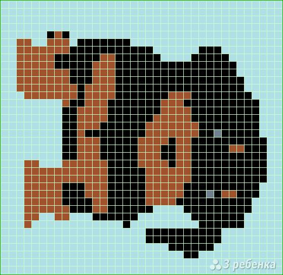 Схема фенечки прямым плетением 13128