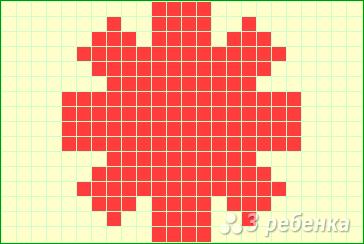 Схема фенечки прямым плетением 13024